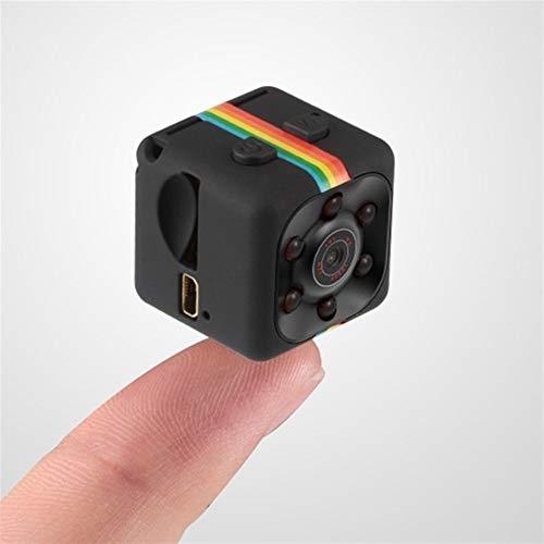 DFKDGL Mini cámara, 1080P cámara de visión nocturna infrarroja del coche, grabadora de vídeo digital DV, adecuado para el hogar, coche, interior y exterior