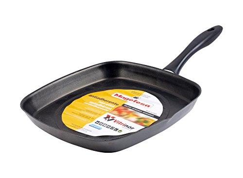 Magefesa Asador Cuadrado para cocina, sarten diametro 28 cm, color efecto espejo,...