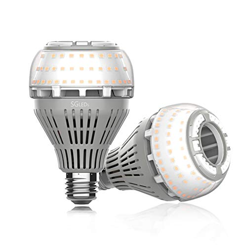 SGLEDS 27W (200W-250W Equivalent LED Bulb), 3000K LED Bulbs, 4000lm Light Bulbs, A21 LED Lights, Warm White Lighting, Non-Dimmable, 2Pack