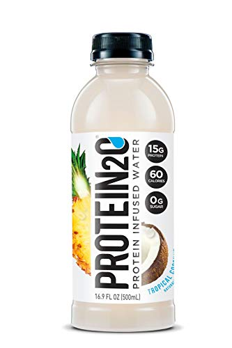Protein2o Low Calorie Protein Infused Water, 15g Whey Protein Isolate, Tropical Coconut (16.9Ounce, Pack Of 12)