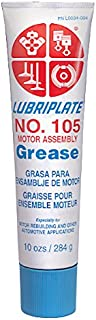 Lubriplate, No. 105 (Mtr/asm), L0034-094, White Motor Assembly Grease, CTN 36 10 Oz Tubes