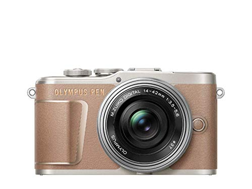 OLYMPUS ミラーレス一眼カメラ PEN E-PL10 14-42mm EZレンズキット ブラウン