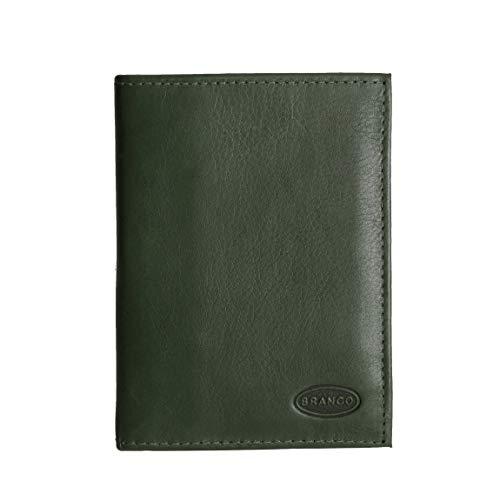 Branco Leder - kleine edle Dokumentenmappe, Ausweishülle, Führerscheinhülle, Kartenmappe in versch. Farben - präsentiert von ZMOKA® (Olive)