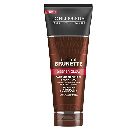 John Frieda Brilliant Brunette Deeper Glow Farbvertiefendes Shampoo, 2er Pack (2 x 250 ml)