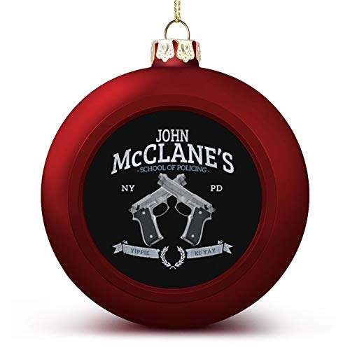 VNFDAS John McClanes School of Policing Die Hard Custom Christmas ball ornaments Beautifully decorated Christmas ball gadgets Perfect hanging ball for holiday wedding party decoration