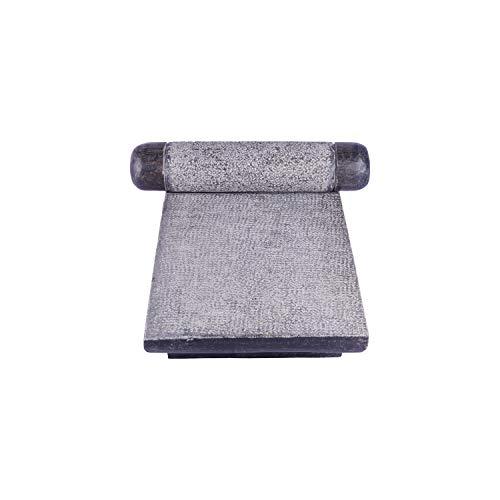 Village Decor Molinillo de mano y mortero metate (LB - 15 10 pulgadas)