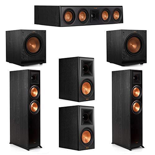 New Klipsch 5.2 System with 2 RP-6000F Floorstanding Speakers, 1 Klipsch RP-404C Center Speaker, 2 K...