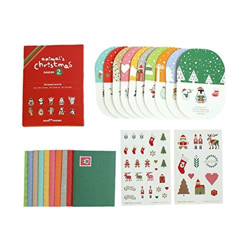 Estaciones tarjetas de felicitación navideñas, juego de tarjetas de felicitación en 3D, con sobres, regalo para los miembros de la familia