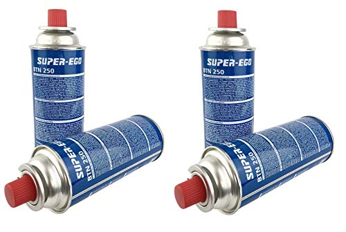 val GoodSaleStars Cartucho Gas, BTN-250, Pack 4 Unidades, para hornillos, quemadores y Otras cocinas del Mercado