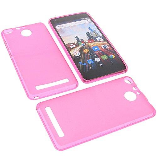 foto-kontor Tasche für Archos 50f Helium Gummi TPU Schutz Handytasche pink