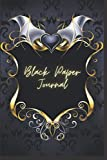 Black Paper Journal: Black Vampire Heart Notebook,120 Pages, White Lines, 6x9, Glossy Softcover