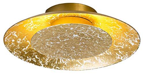 Nino Leuchten 62140645 - Plafoniera A+, in vetro, colore: oro, 15 x 25 x 5 cm