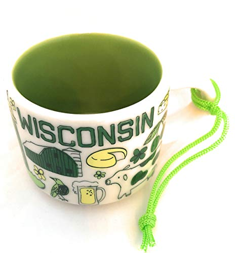 Starbucks WISCONSIN Been There Series 2 Oz Ornament Espresso Mug/Cup