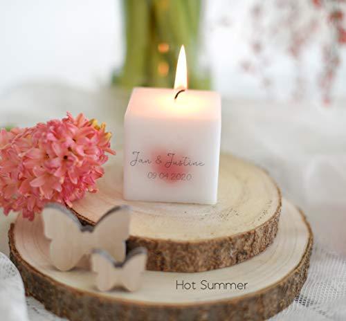 3 STÜCK Hochzeitskerze - Gastkerze - Gastgeschenk zur Hochzeit - - Hochzeitsgeschenke für Gäste PERSONALISIERT- KERZE mit Namen- viele Motive zur Auswahl