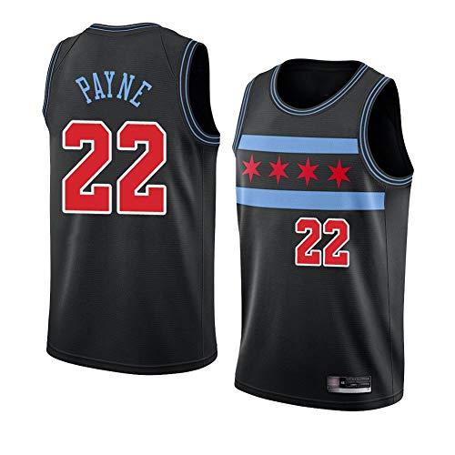 TGSCX 22# Payne NBA Chicago Bull Jersey de Baloncesto cómodo/liviano/Transpirable Malla Bordada Swing Swing Swing-Swings Camisa de retrot,B,XXL
