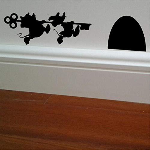 Vinilo adhesivo de pared para decoración del hogar, diseño de Cenicienta Día de la Madre Jack y Gus