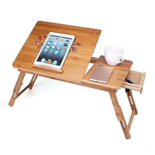 Heqianqian Mesa plegable plegable de bambú portátil desayuno mesa portátil para camping fiesta picnic – pequeño escritorio plegable ligero portátil resistente