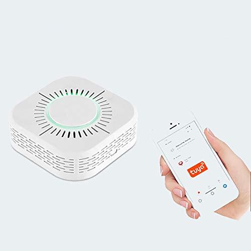 Tuya WiFi Rauchmelder, Smart Alarm Sirene, Super Long Standby ABS Flammhemmende Materialien Power Feueralarm für Haus mit Alexa G-Home, Sprachsteuerung