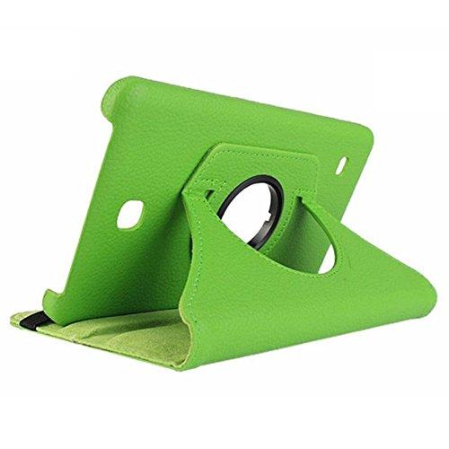Samsung Galaxy Tab 4 T230 Caparazon protector - SODIAL(R)Fundas Para Samsung Galaxy Tab 4 Tablet SM-T230 SM-T231 Rotacion de 360 cascara (verde)