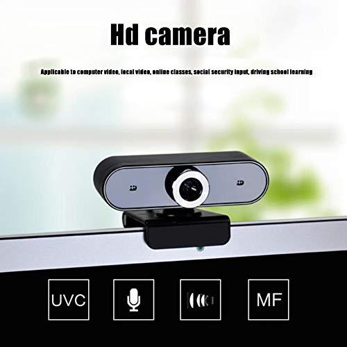 Cámara web HD, rotación de 360 grados, micrófono con reducción de ruido, 30 fps, cámara de video USB plug and play, utilizada para conferencias / video / llamadas / enseñanza a distancia