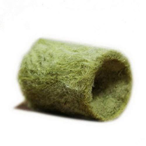 Meiyum 100 Stück Anzuchtwürfel, Steinwoll-Starterstopfen, landwirtschaftlich, bodenlos, Kultur, zylindrisch, Hydrokultur-Anzucht, Wachstumsmittel, Starter, 27 x 20 mm