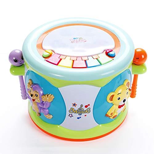 GAOQUN-Baby Toy Jouets bébé 12-18 Mois-Up Early Education Musique Activity Centre Jeu de Musique Jouets Tambour Enfants en Bas âge for 1 2 3 Ans-éclairage différent du Son