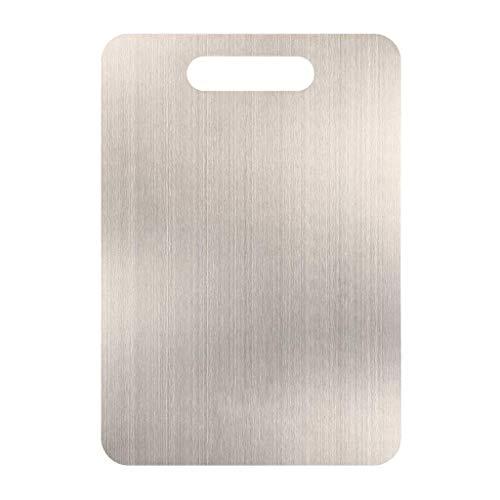 Hushåll 304 rostfritt stål skärbräda skärbräda skärbräda skärbräda skärbräda 60X49CM SILVER