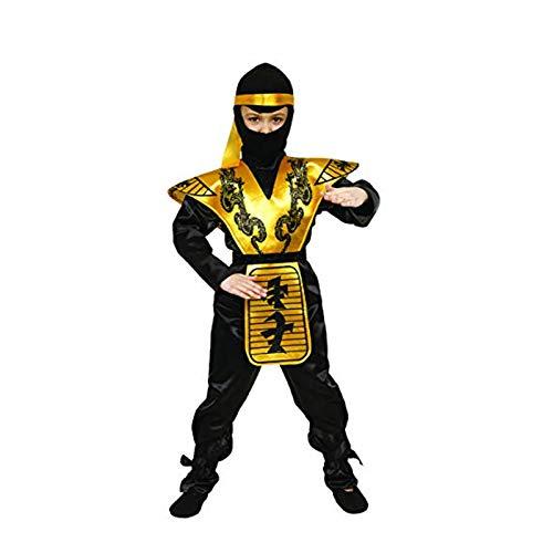 Dress Up America Conjunto de Disfraces Infantililes de Lujo Ninja, Talla 8-10 años (Cintura: 76-82, Altura: 114-127 cm) (288-M)