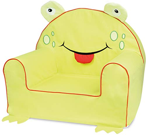 Bubaba - Kindersessel in 16 Motiven, EU Produkt, formstabiler Schaumsoff - extra leicht nur 1kg, Model:Frog