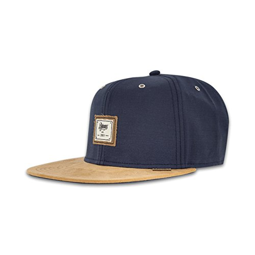 Djinns 10oz Canvas Navy Basecap Snapback 6 Panel Kappe Herren Mens