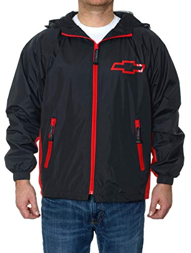 J.H. Design Chevy Racing Wind Breaker (Small) Black