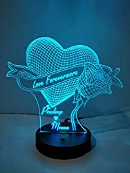 3D Illusion LED lamp -16 Colour Changing with your names