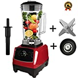 BPA free 2200W Heavy Duty Commercial Blender Professional Blender Mixer Food Processor Japan Blade Juicer Ice Smoothie Machine,Red blade drive