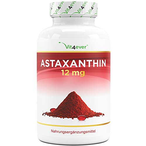 Astaxanthin 12 mg Depot - 150 Softgel Kapseln (10 Monatsvorrat) - Aus reiner Haematococcus Pluvialis-Mikroalge - Optimierte Bioverfügbarkeit mit Vitamin E & Olivenöl - Laborgeprüft