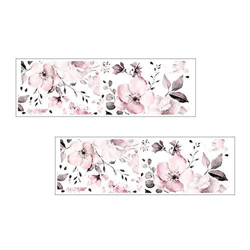 XJF 2 pegatinas de pared con flores y diseño de flores para decoración del hogar