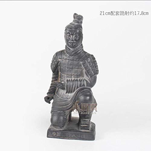 UIXIYIMG 29cm Terrakotta Armee Krieger Ornament Keramik Figur Handwerk Handwerk Wohnkultur Qin Dynastie Soldat Modell Skulptur chinesischen Stil Geschenk, 17,8 cm Bogenschütze
