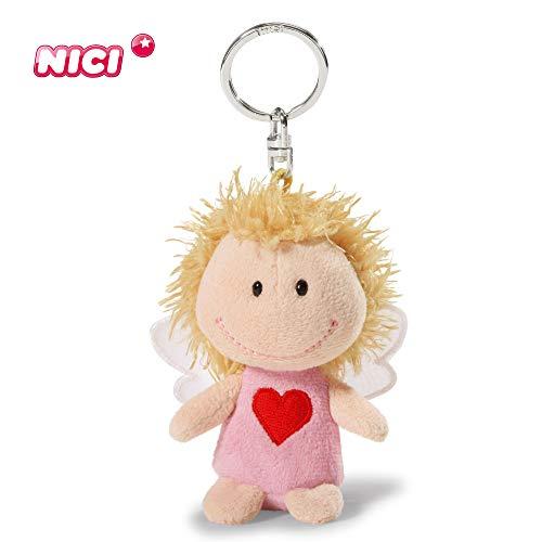 """NICI, 7 cm, rosa immer bei dir"""", Glücksbringer Schutzengel mit Herz I Engel Schlüsselanhänger für Schlüsselband, Schlüsselbund & Schlüsselkette I 34554"""