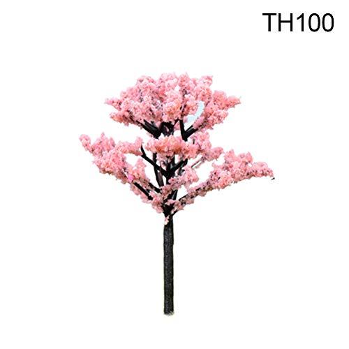 Livecitys Mini-Simulationsbäume Willow Sakura Figur Micro Garden Landscape Decoration-Mini Figuren Für Garten Sukkulenten Pflanze Bonsai TH100-Pink