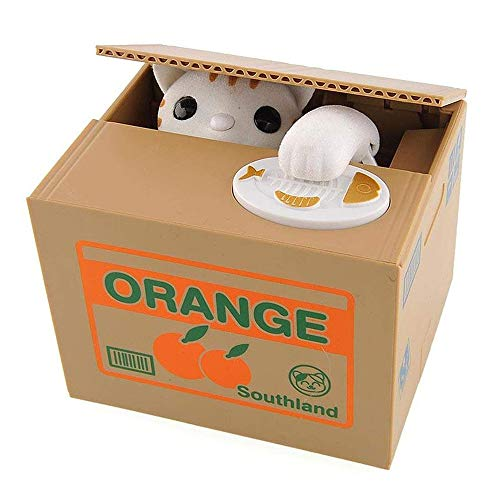 Rubare la Moneta Panda Box - Piggy Bank - Panda Bear - English Speaking - Grande Regalo per Ogni Bambino(Cat Box)