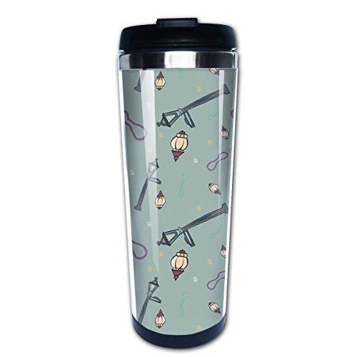 Taza de café de viaje Lámpara de calle Taza de café con aislamiento de acero inoxidable Botella de agua deportiva 13.5 Oz (400 ml) MUG-1250