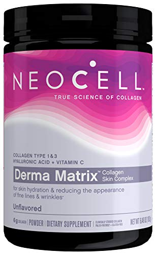 NeoCell Derma Matrix Collagen Skin Complex Powder, Collagen Types 1 & 3, 6.46 Ounces (Package May Vary)