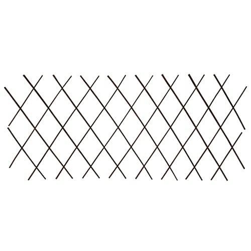 vidaXL 5X Rankgitter Erweiterbar Rankhilfe Gitter Blumengitter Pflanzengitter Weidenzaun Sichtschutz Spalier Scherenspalier Weide 180x60cm