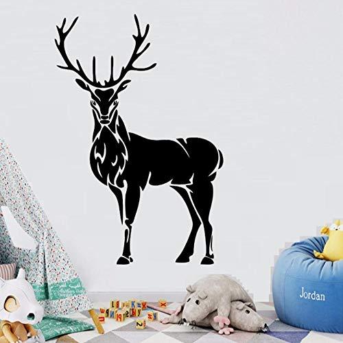 Muursticker Antler elk Art Sticker Gezond Grappig Huis Slaapkamer Decor Gift Verwijderbaar Eet Slaap Spelen Kinderen Kamer Game 57x88cm