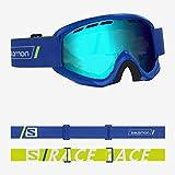 SALOMON Juke esquí (6-12 años), Compatibles con Gafas de Vista, Condiciones climáticas Variables, Lente Azul (Intercambiable), Sistema Airflow, Unisex niños, Talla Única