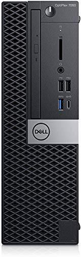 DELL OptiPlex 7060 Desktop SFF PC, Intel® Core™ Intel Core i7-8700T 8GB RAM DDR4, 256GB SSD SATA M.2 SAMSUNG Windows 10 Pro MAR (Ricondizionato)