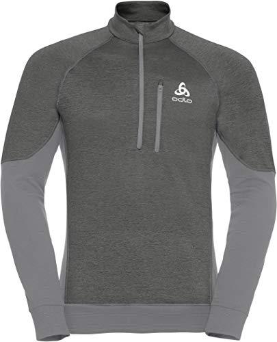 Odlo Herren Millennium Yakwarm Half Zip Sweatshirt, Grey Melange, XL