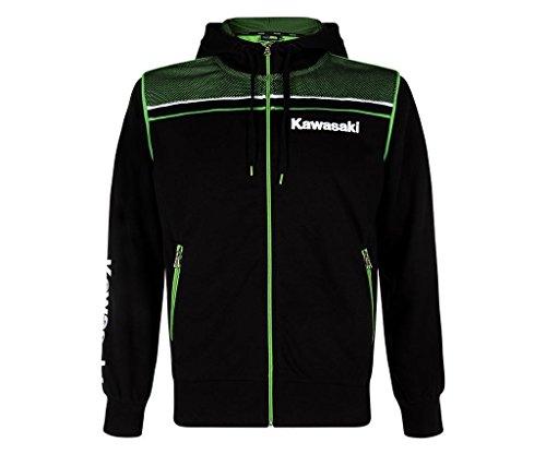 Kawasaki - Sudadera deportiva con capucha Producto nuevo. negro y verde M