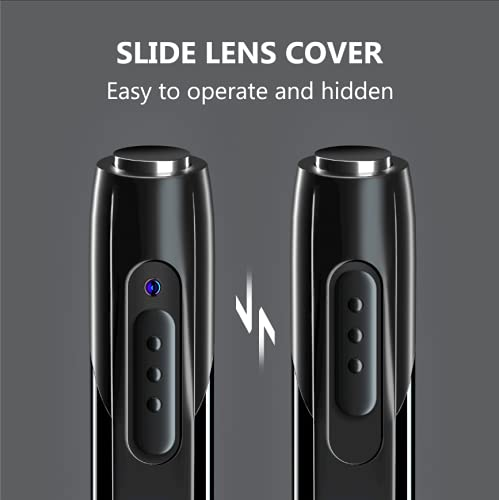 Spy Camera, Pen Spy Camera HD 1080p Video and Audio Recording, Hidden Spy Camera Portable V8 Pen, Slim Metal Bpdy, Lens Coven, Full HD Video, Spy Gadget Pen Camera Spy Camera for home, office, meetings recording hidden