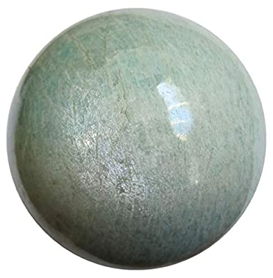Satin Crystals Amazonite Sphere Crystal Healing Ball Sea Green Sheen Relaxation Chill Vacation Vibration Energy Premium P01