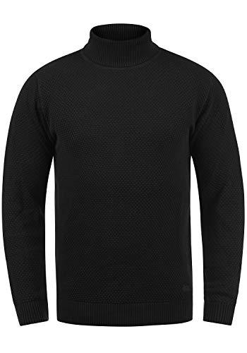!Solid Karlos Herren Rollkragenpullover Feinstrickpullover, Größe:XL, Farbe:Black (9000)